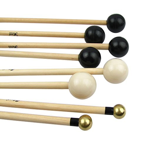IKN Xylophone Bells Mallets/Sticks with Different Hard,Set of 4 Pairs
