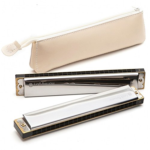 Attol® – Harmonica Key of C,24 Double Holes with 48 Reeds,white