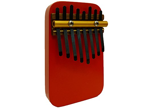 Zither Heaven 8 Note Red Thumb Piano (Kalimba)