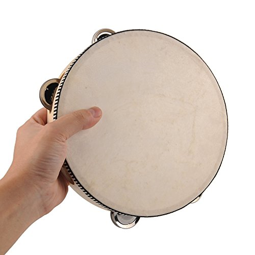 ZGY 8″ 20cm Musical Learner Tambourine Round Drum Percussion Gift