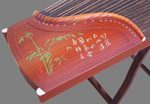Professional Performing Carved Sandalwood Guzheng Instrument Chinese Zither Harp