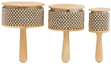 Z9V35 – MUSICAL INSTRUMENT WOODEN AFUCHE CABASAS WITH CHROMED BEADS AND DRUM PERCUSSION EFFECTS 170 x 65MM