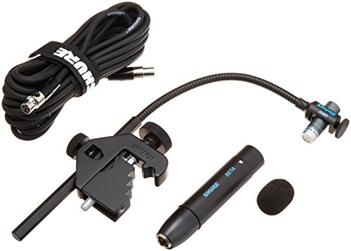 Shure Beta 98AD/C Miniature Cardioid Condenser Drum Microphone (Includes RPM626 In-Line Preamplifier, A98D Drum Mount and 25′ Cable)
