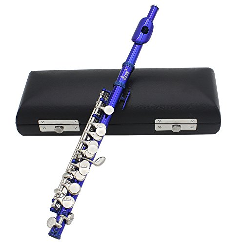 Andoer Piccolo Ottavino Half-size Flute Plated C Key Cupronickel with Cork Grease Cleaning Cloth Screwdriver Padded Box