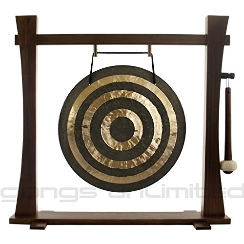 22″ Solar Flare Gong on Spirit Guide Gong Stand