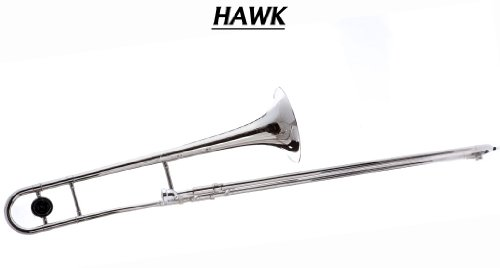 Hawk WD-TB316 Slide Bb Trombone with Case and Mouthpiece, Nickel Plated
