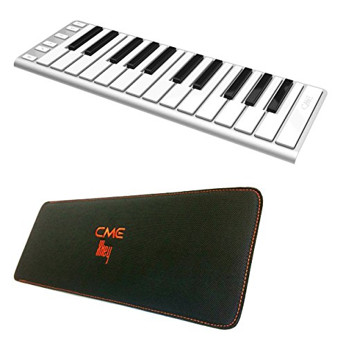 CME Xkey 25-key Mobile Keyboard Controller with CME Xkey Sleeve Carrying Case Includes 30 Free Songs for Piano Maestro for iOS and 30 Free Songs for PC