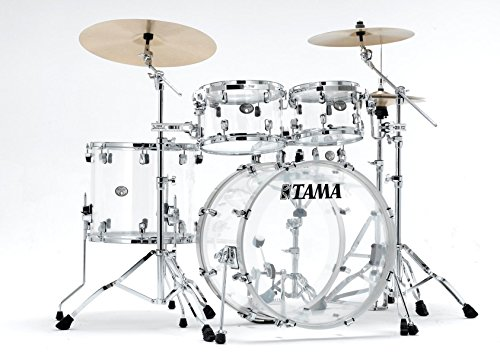 Tama 5 Pc Limited Edition Silverstar Mirage Clear Acrylic Drum Shell Pack