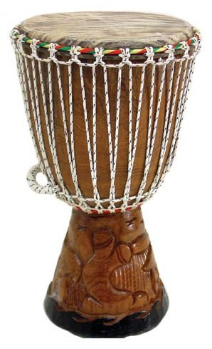 23″ Full Size Professional Quality Authentic African Djembe Drum From Senegal – Traditional African Musical Instrument