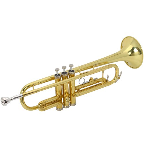 Olymstore(TM) Paint Gold Bb Trumpet Golden with Case, Gloves and Mouthpiece