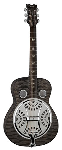 Dean Spider Quilt Maple Resonator Guitar – Trans Black