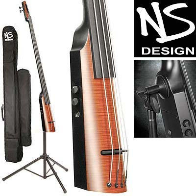 NS Design NXT Electric Upright Double 5-String Bass With Amber Burst Finish