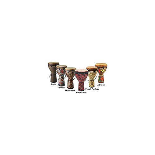 Remo Djembe, MONDO(TM), Key-Tuned, 14″ x 25″, SKYNDEEP® FIBERSKYN®, Contour Tuning Brackets, Multi-Mask Finish