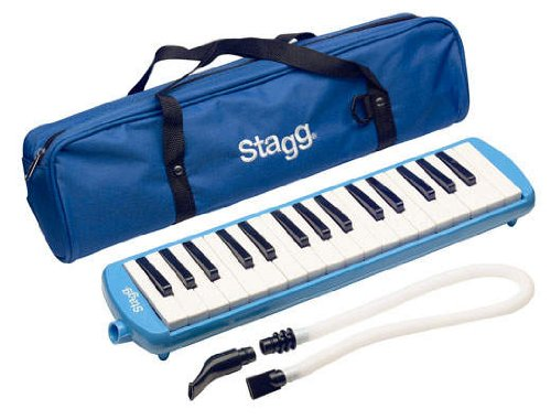 Stagg Melodica with Gig Bag, 32 Key, Blue