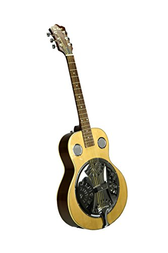 De Rosa Resonator Acoustic Guitar – Natural with Free Gig Bag
