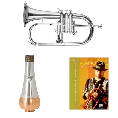 Band Directors Choice Bb Intermediate Flugelhorn w/Mute & Chuck Mangione Book
