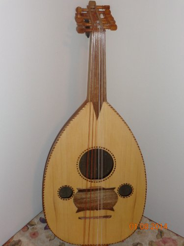 EMS 8 Course Renaissance Lute, 25 Alternating Ribs and Hard Case