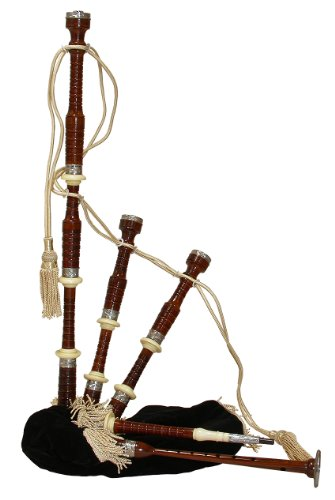 Roosebeck Bagpipe, Rosewood with Black Cover and Engraved- Nickeled Ferruls and Sole, Full Size (Package Of 2)