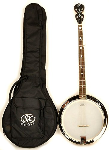 SX Country 5-String Left Handed Banjo with Bag