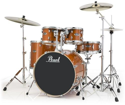 Pearl Export Lacquer EXL725/C249 5-Piece Standard Drum Set with Hardware, Honey Amber