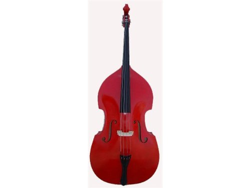 GRACE 3/4 Size Red Upright Double Bass with Bag,Bow,Bridge+Free Rosin