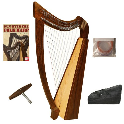 Heather Harp w/ Case, Extra Strings & Play Book