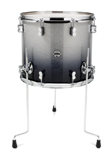 Pacific Drums PDCM1416TTSB 14 x 16 Inches Floor Tom with Chrome Hardware – Silver to Black Fade