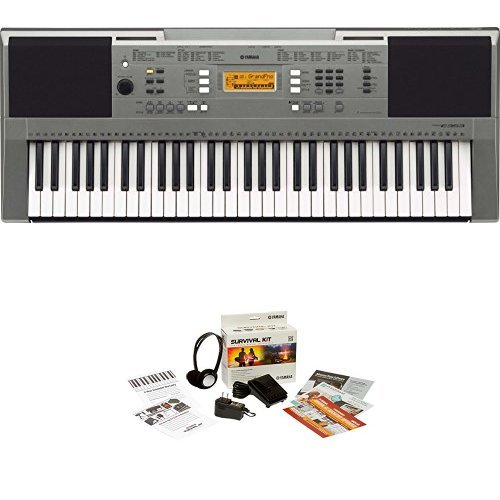 Yamaha PSRE353 61-Key Portable Keyboard + Yamaha SKB2 Survival Kit