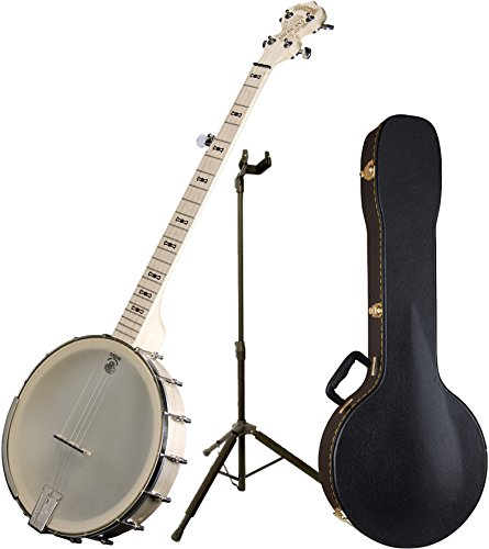 Deering Goodtime Americana Grand 12″ Rim 5-String Banjo w/ Guitar Stand and Case