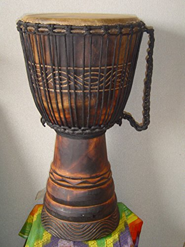 PRO EXTRA Large 26″ X 15″ Djembe Deep Carved Hand Drum – Model #65m1
