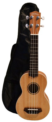 Bridgecraft Hula Beach  UKH-30S Soprano Ukulele with Geared Tuners and Gig Bag