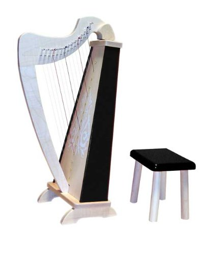 Zither Heaven 15 String Black Harp for Children and Beginners