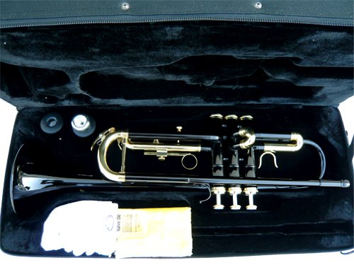 New Black Concert Band Trumpet w/case-Approved+Warranty