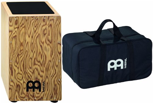 Meinl Percussion CAJ3MB-M+BAG String Cajon, Makah Burl Frontplate with Bag