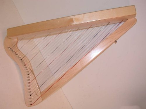 Rees Harps Acoustic Electric Harpsicle Harp, Natural Maple, 26 String, 33″ Harp, Includes melBay Book