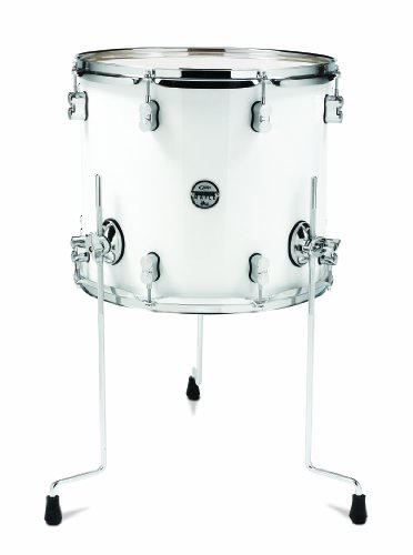 Pacific Drums PDCM1416TTPW 14 x 16 Inches Floor Tom with Chrome Hardware – Pearlescent White