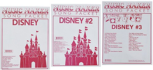 Lap Harp Music: Disney #1, #2, #3, Songsheets for Zither, Music Maker