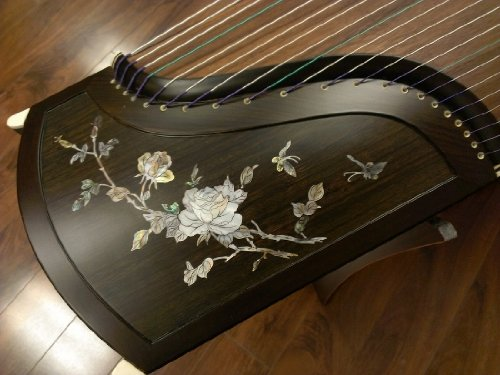 Sound of China Professional African Blackwood Guzheng with Mica Inlay