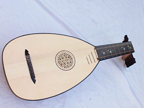 Renaissance 11 Course Olive Wood Lute Lavta with Gigbag New !!!!!!!!!!!!!