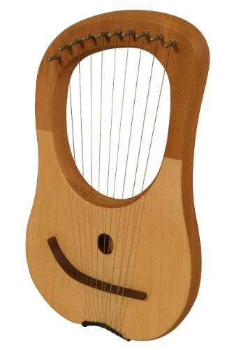 Mid-East Lyre Harp, 10 String, Lacewood
