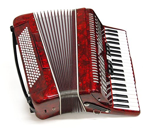 Parrot Piano Accordion 120 Bass 41 Keys Red Color T5001