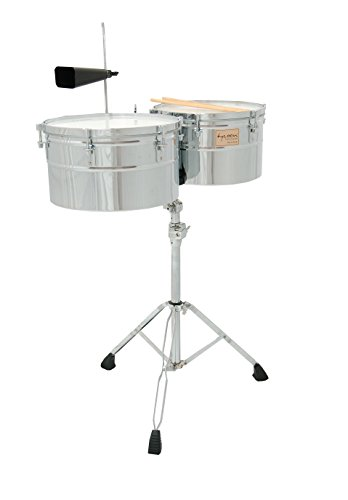 Tycoon Percussion 14 Inch & 15 Inch Deep-Shell Timbales – Chrome Finish