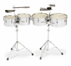 REMO Timbales, Valencia, 13″/14″ Diameters, With Stand