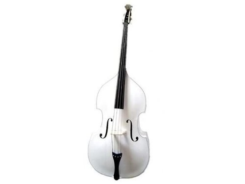 GRACE 4/4 Size White Upright Double Bass with Bag,Bow,Bridge+Free Rosin
