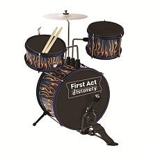 First Act Discovery Jr. Blue Fire Tire Drum Set