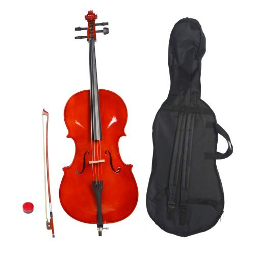 Olymstore(tm) 3/4 Size Student Acoustic Cello with Soft Case, Bow and Rosin Natural for Kids
