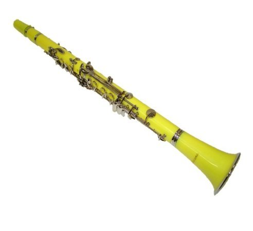Merano B Flat Yellow / Silver Clarinet with Carrying Case;Mouth Piece; Reed and Cap; Screwdriver; Soft Cleaning Cloth; Cork Grease; A Pair of Gloves