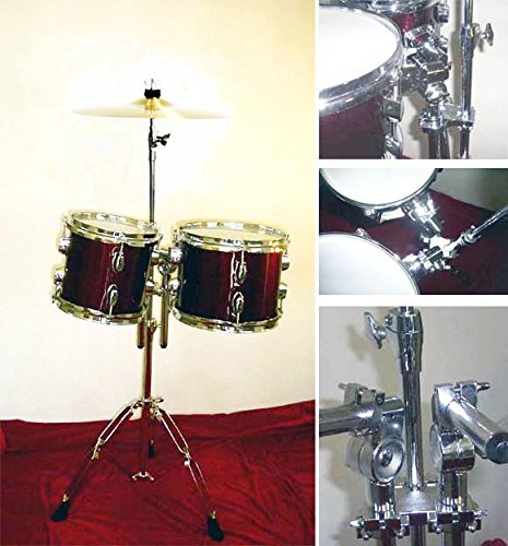 NEW WINE RED 8″&10″ CONCERT TOMS DRUMS With HARDWARE.FREE 14″ CYMBAL
