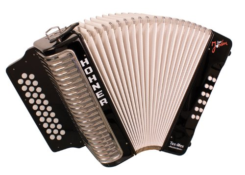 Hohner Steve Jordan Rockordeon Limited Edition Button Accordion, GCF, Black