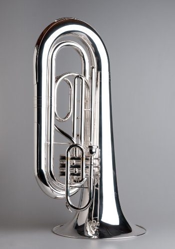 TEMPEST AGILITY WINDS BBb MARCHING TUBA OVER THE SHOULDER SILVER PLATED ERGONOMIC SOLID BUILD 5-YEAR WARRANTY